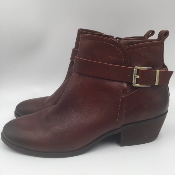 Vince Camuto Beamer Leather Ankle Boots Size 81/2